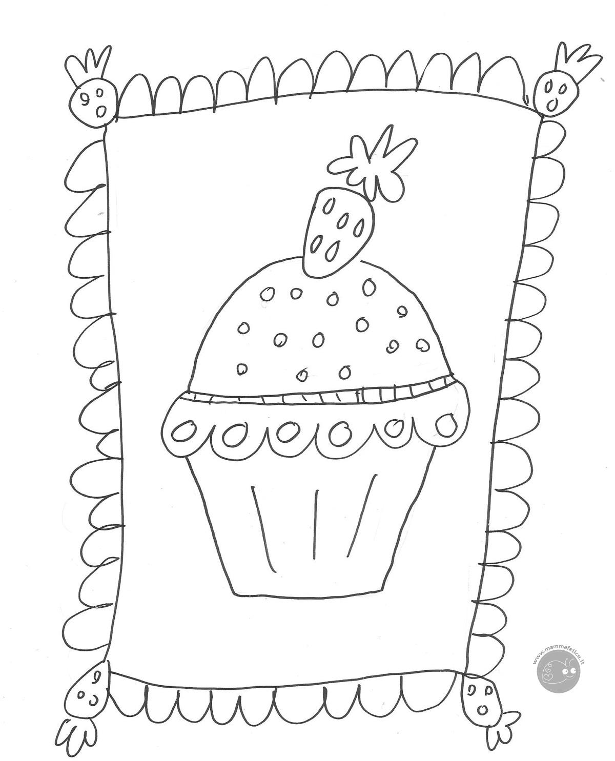 disegno della Cupcake