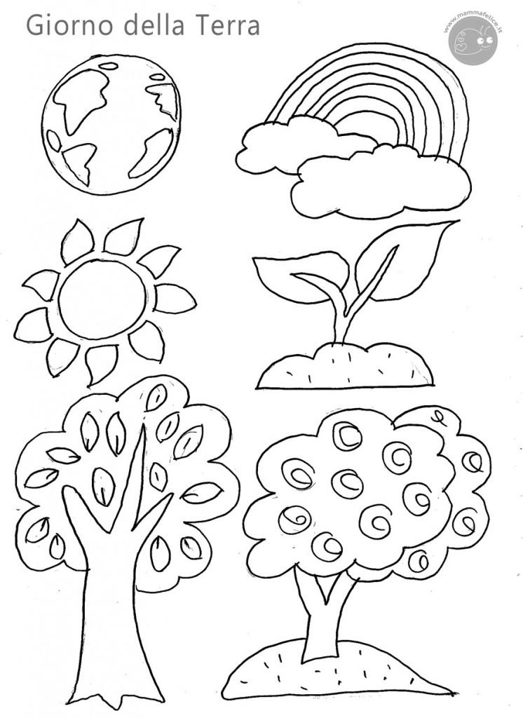 Disegno per il giorno della terra disegni mammafelice for Disegno vaso da colorare