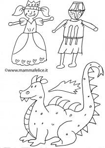 disegno-per-bambini-da-colorare-gratis-san-michele-drago-michaelmas-equinozio-autunno
