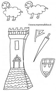 disegno-per-bambini-da-colorare-gratis-san-michele-drago-michaelmas-equinozio-autunno-ambientazione