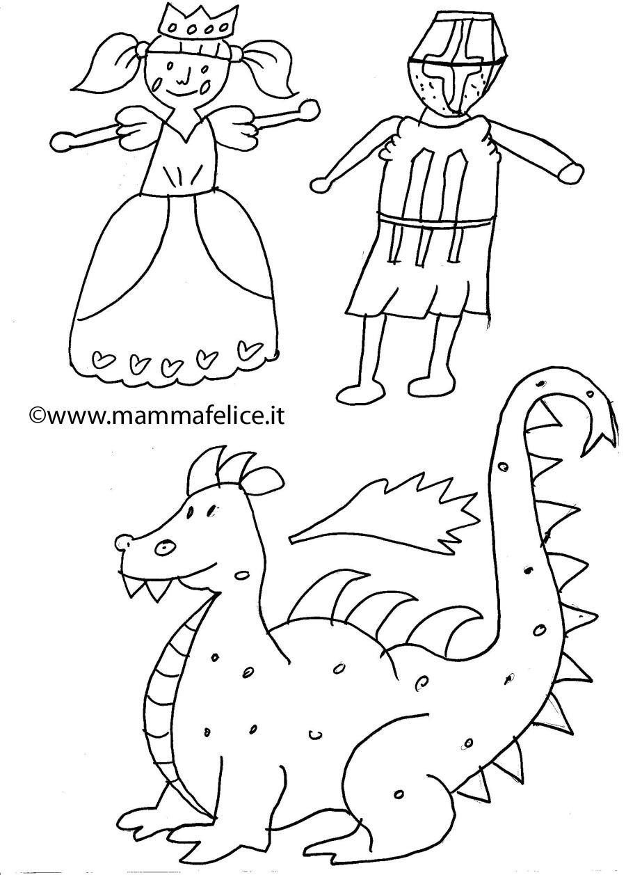 spesso Disegno da colorare San Michele e il Drago | Disegni Mammafelice AT69