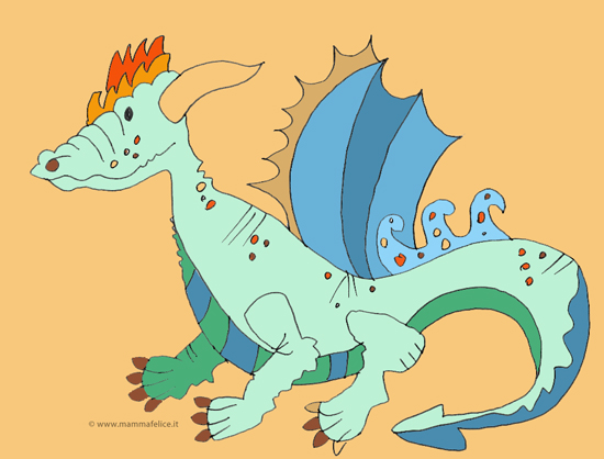disegno-per-bambini-da-colorare-gratis-san-michele-drago