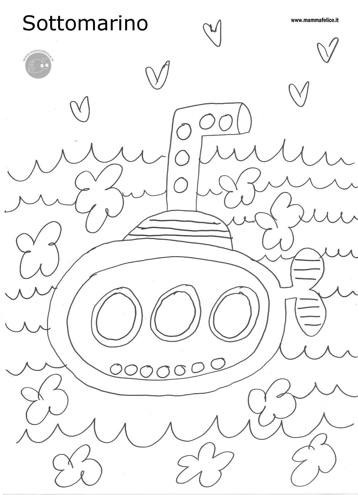 disegno da colorare gratis sottomarino disegni mammafelice