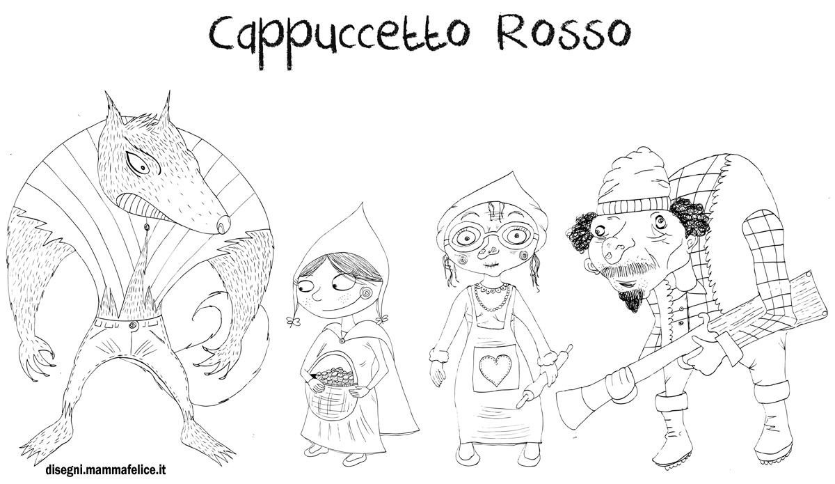 disegno-per-bambini-da-colorare-gratis-personaggi-fiaba-cappuccetto-rosso-lupo-nonnina-cacciatore