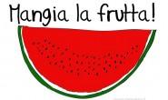 Disegno per bambini che non mangiano la frutta