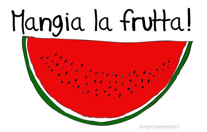 Disegno per bambini che non mangiano la frutta disegni for Pesci da disegnare per bambini