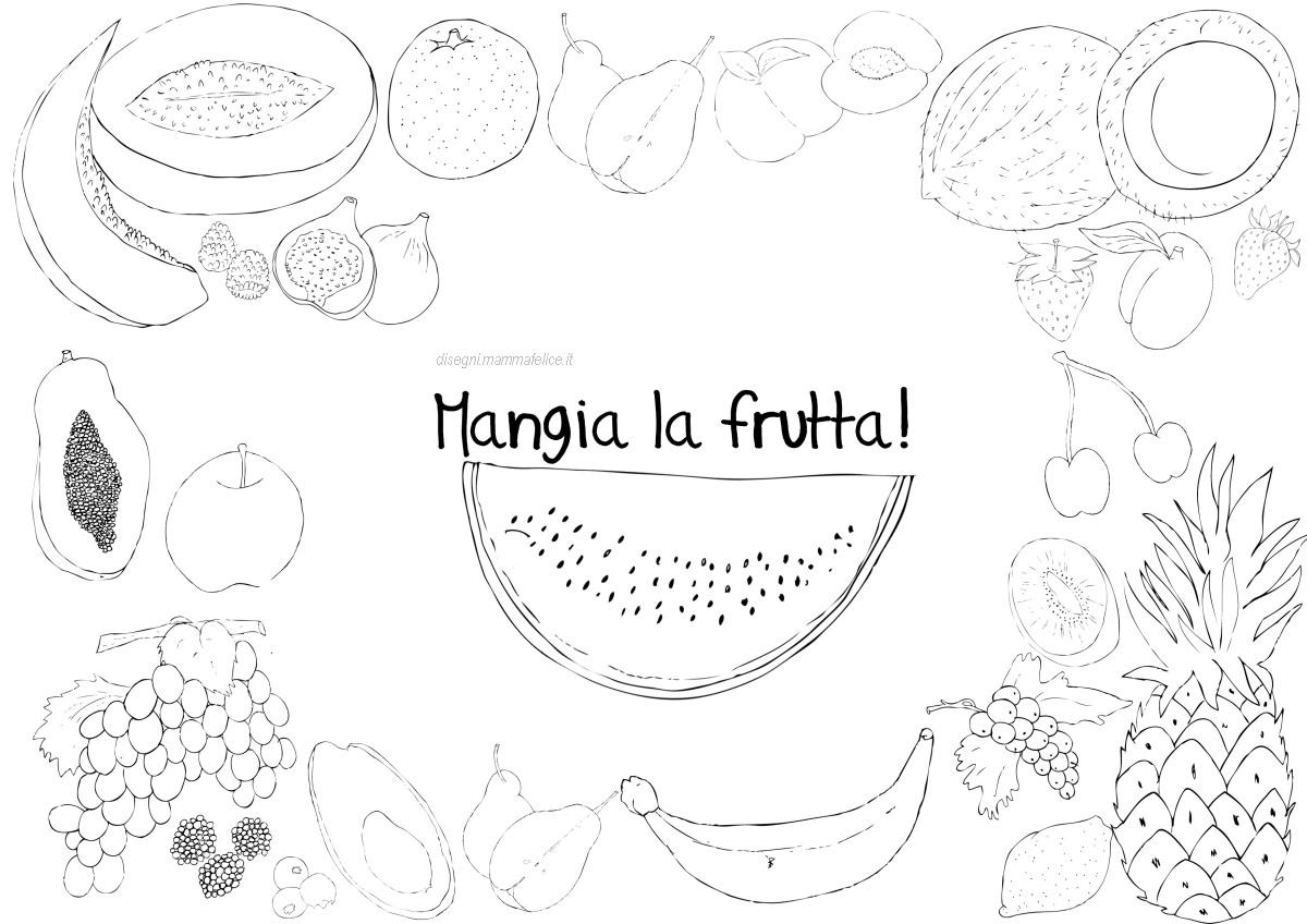 Disegno Per Bambini Che Non Mangiano La Frutta Disegni Mammafelice