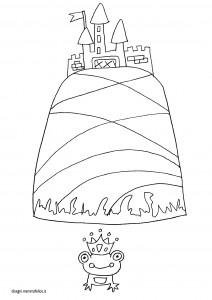 disegno-da-colorare-bambini-principe-ranocchio-castello