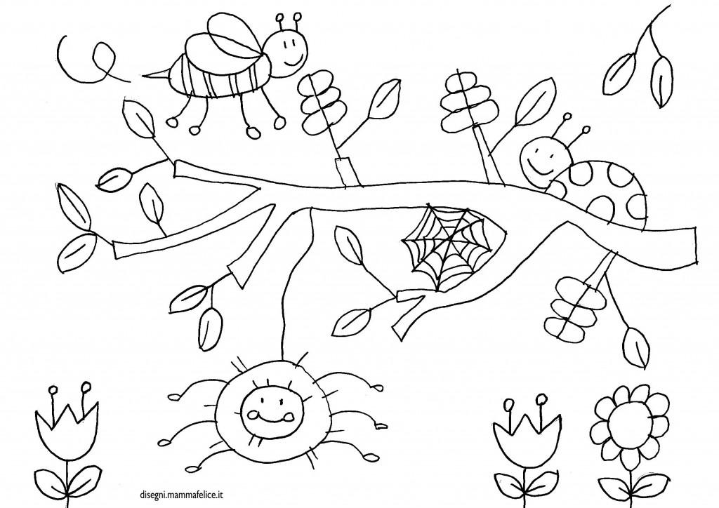 Disegno ape ragno e coccinella disegni mammafelice - Immagini del ragno da stampare ...