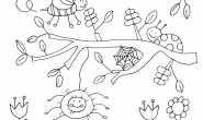 Disegno ape, ragno e coccinella