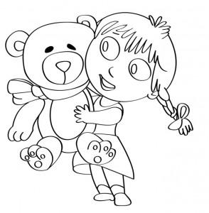 disegno-per-bambini-da-colorare-gratis-bambina-orsetto-peluche