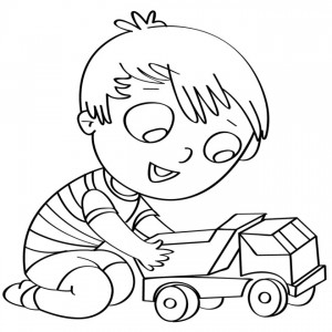 disegno-per-bambini-da-colorare-gratis-bambino-camion-giocare