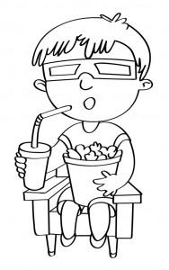disegno-per-bambini-da-colorare-gratis-bambino-cinema-film-popcorn