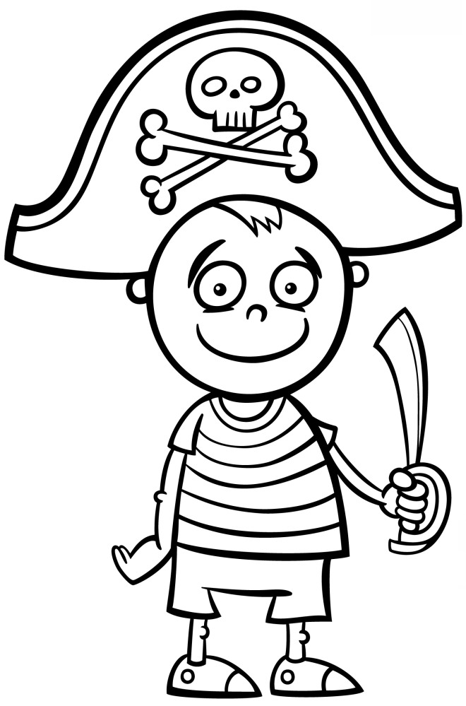 Disegni Da Colorare Gratis Per Carnevale.Disegno Da Colorare Pirata Disegni Mammafelice