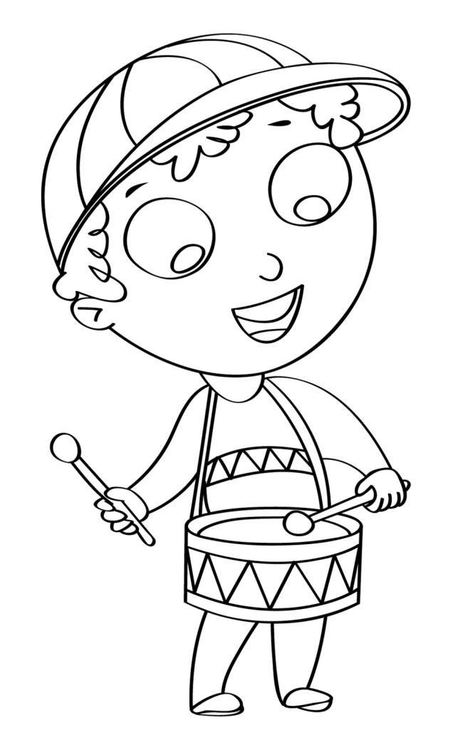Disegno Per Bambini Da Colorare Gratis Bambino Tamburo Banda Musica Disegni Mammafelice