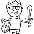 disegno-per-bambini-da-colorare-gratis-bambino-travestimento-cavaliere-soldato
