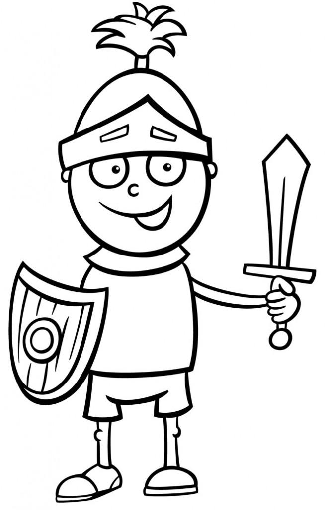 Disegno da colorare soldato cavaliere disegni mammafelice - Mike le pagine da colorare cavaliere ...