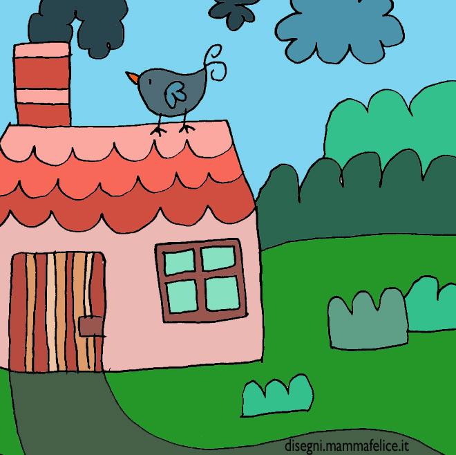 Disegno da colorare casetta disegni mammafelice - Cartoni animati mare immagini ...