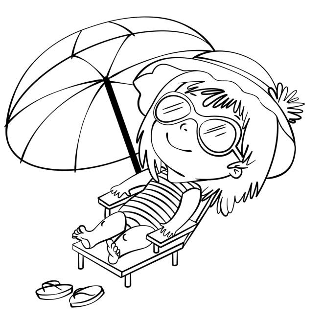 Disegno da colorare per le vacanze disegni mammafelice for Disegni di mare da colorare