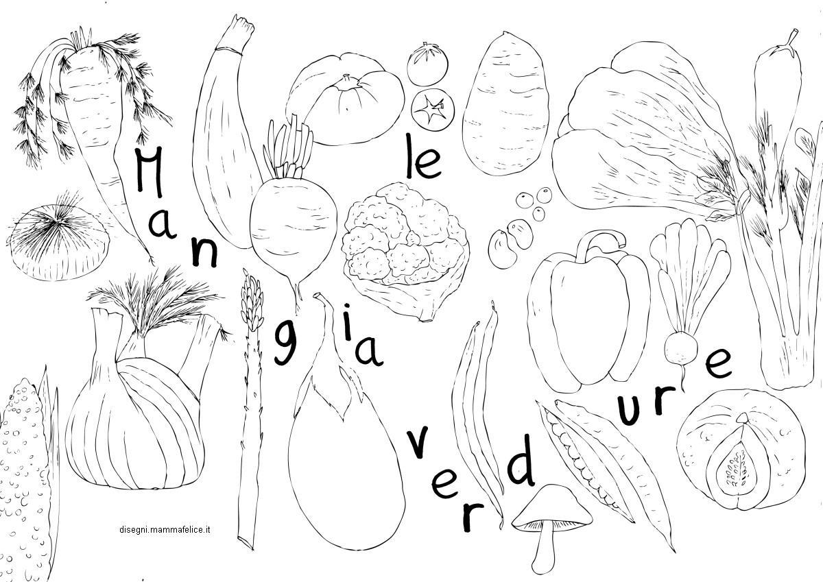 Disegni Da Colorare Per Bambini Frutta E Verdura