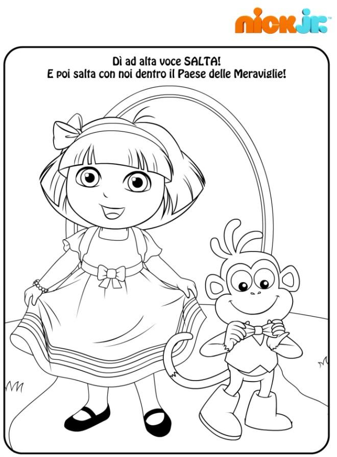 Dora Esploratrice Nel Paese Delle Meraviglie Disegni Mammafelice