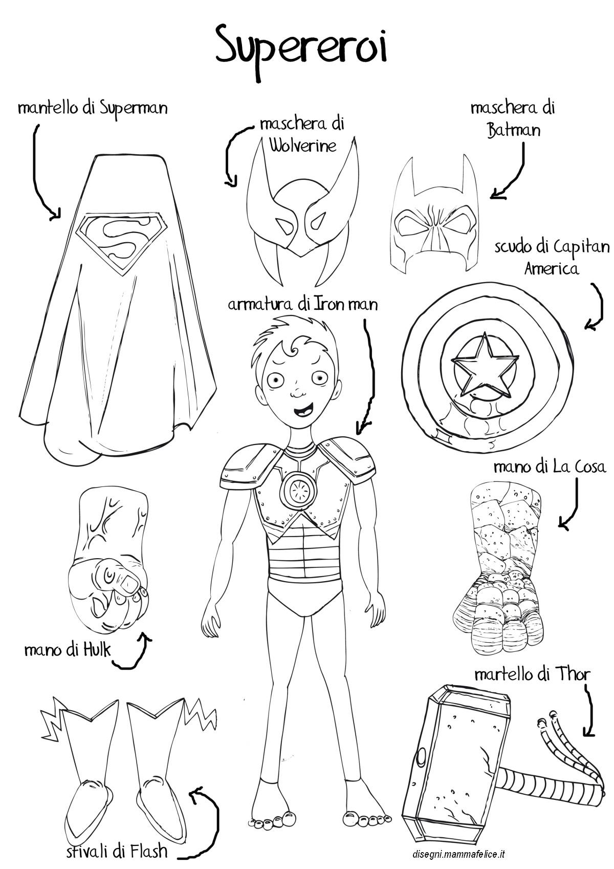Disegno eroe da colorare disegni mammafelice for Immagini super eroi da colorare