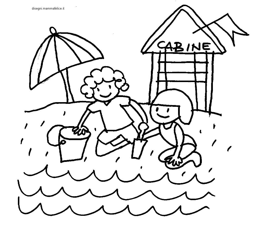 Disegno Da Colorare Bimbi In Spiaggia Disegni Mammafelice