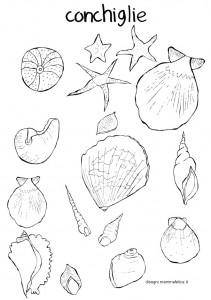 disegni-da-colorare-bambini-conchiglie-mare