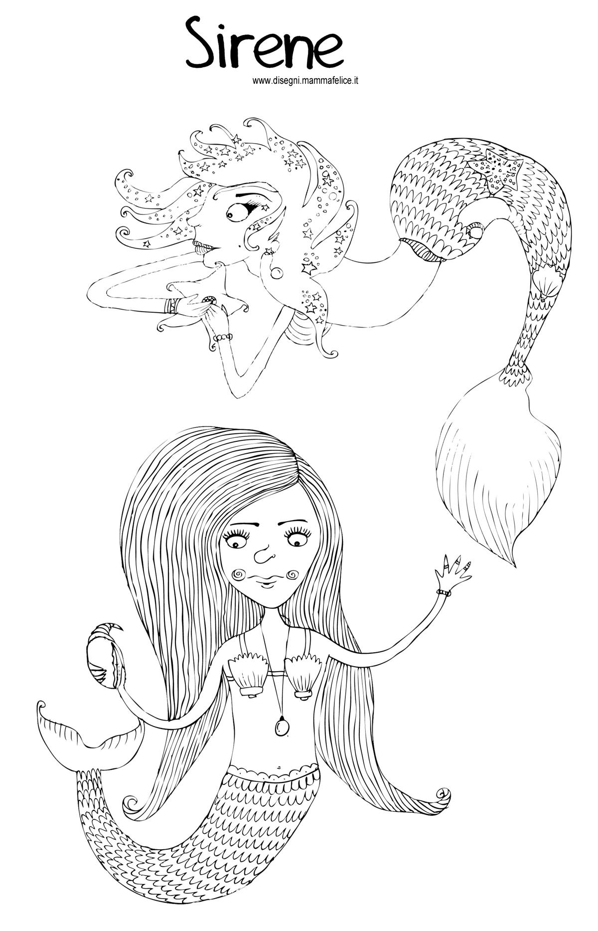 disegni-per-bambini-da-colorare-sirene-sirenetta-mare-vacanze-fiabe
