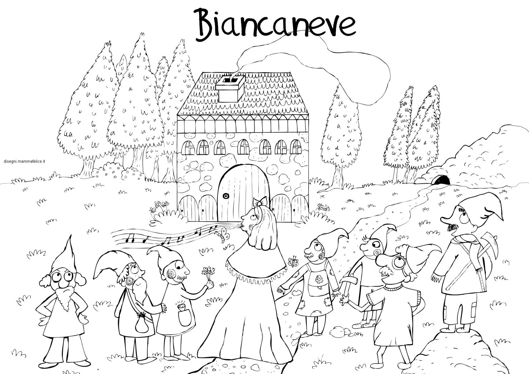 disegni-per-bambini-da-colorare-vacanze-fiabe-biancaneve-sette-nani