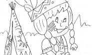 disegno-da-colorare-bambini-indiana-tenda-nativi-americani
