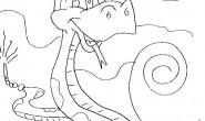 Disegno di un serpente velenoso