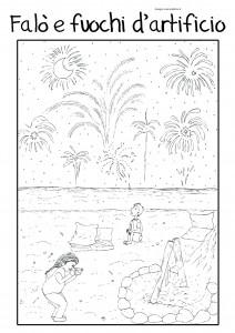 disegni-da-colorare-bambini-vacanze-fuochi-artificiali-falo-estate-mare-spiaggia