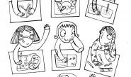 Disegno da colorare back to school: bambini in classe