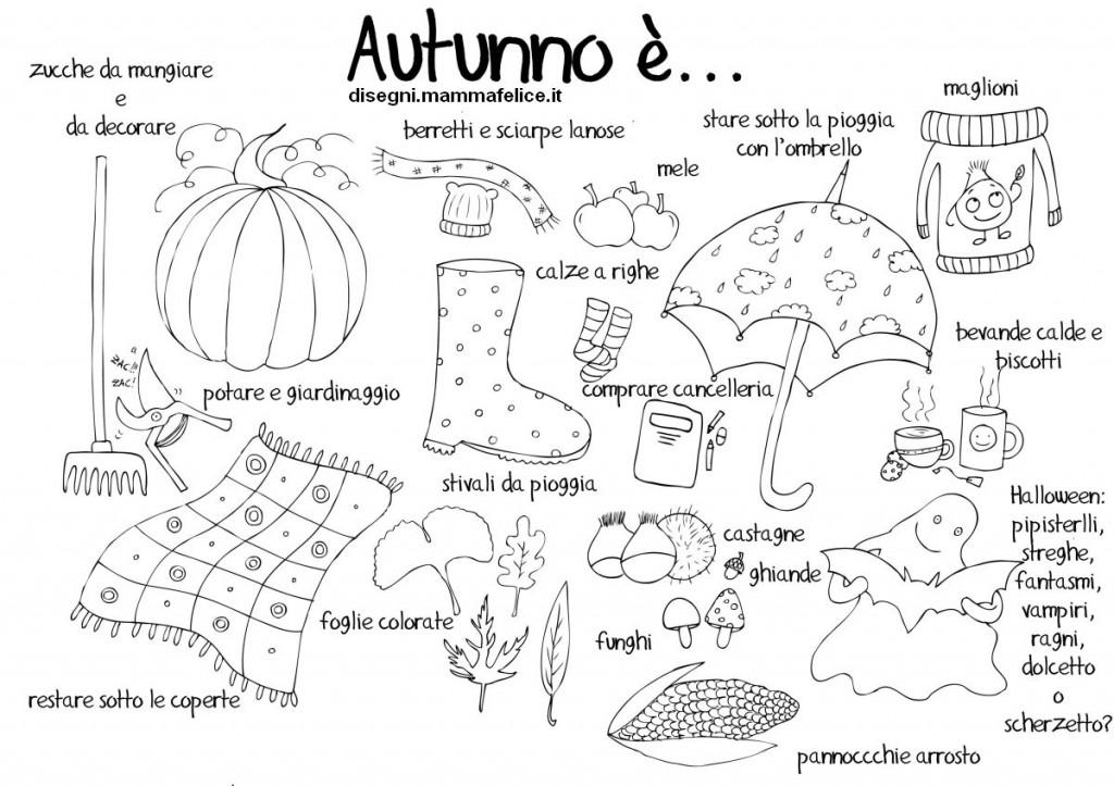 Disegno da colorare autunno disegni mammafelice