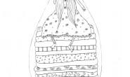 Disegno da colorare: la Principessa sul Pisello