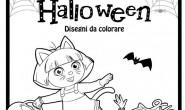 Dora Esploratrice: Disegni di Halloween da colorare