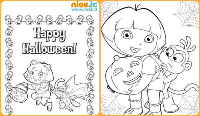 disegni-da-colorare-halloween-cartoni-animati-dora-esploratrice