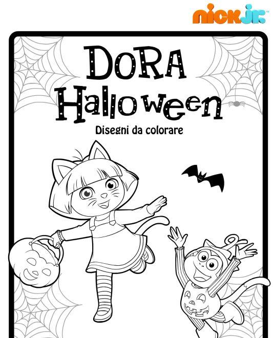 Dora esploratrice disegni di halloween da colorare - Halloween immagini da colorare ...