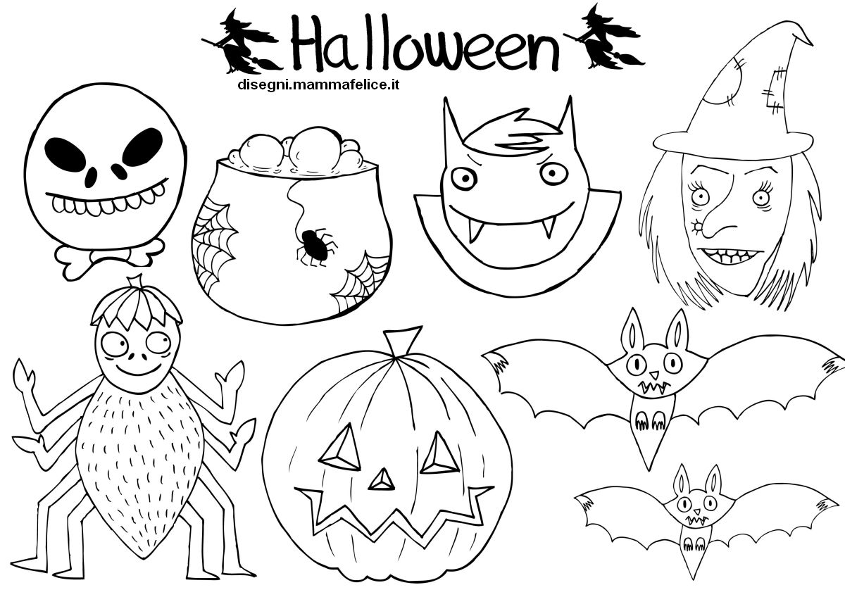 Disegni da colorare le maschere di halloween disegni for Immagini di clown da colorare