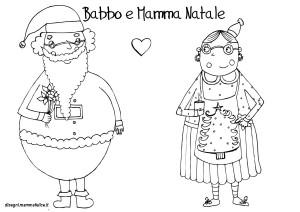 disegni-da-colorare-bambini-babbo-mamma-natale