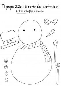 disegni-da-colorare-bambini-natale-pupazzo-di-neve