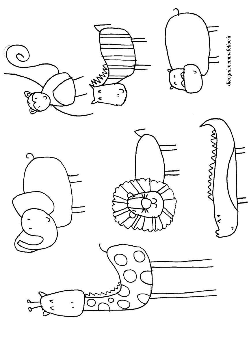Disegni da colorare animali della giungla disegni for Immagini della pimpa da colorare