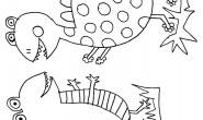 Disegno da colorare: dinosauri divertenti