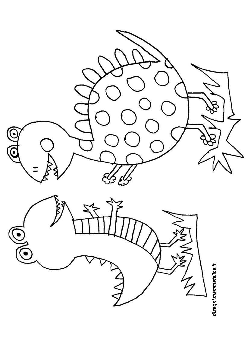 Disegno da colorare dinosauri divertenti disegni for Disegni da colorare dinosauri