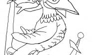 Disegno da colorare: Pirata Pappagallo