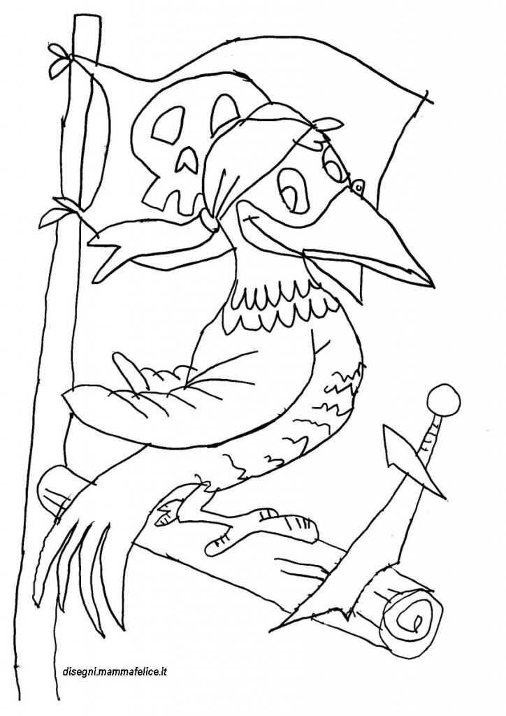 Disegno da colorare pirata pappagallo disegni mammafelice for Disegni miraculous da colorare