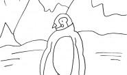 Disegno da colorare: il pinguino