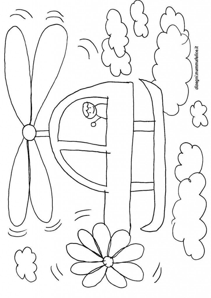 Elicottero Stilizzato : Disegno da colorare elicottero disegni mammafelice