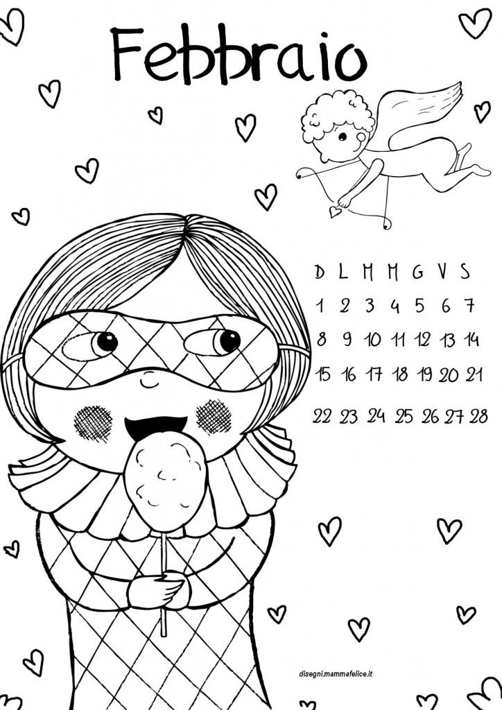 Disegno da colorare febbraio 2015 disegni mammafelice - Fogli da disegno per bambini ...